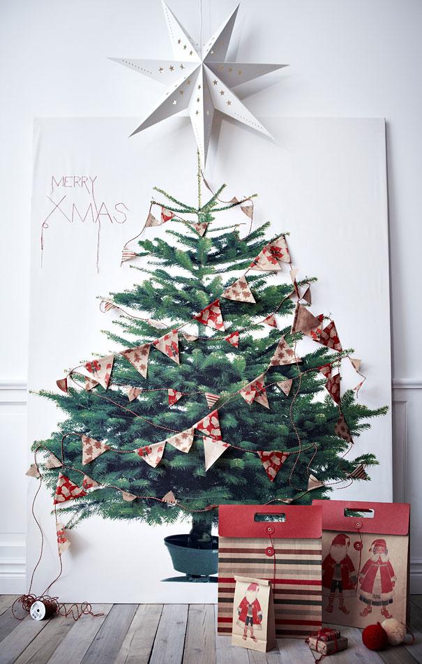 2 d gift bag christmas tree