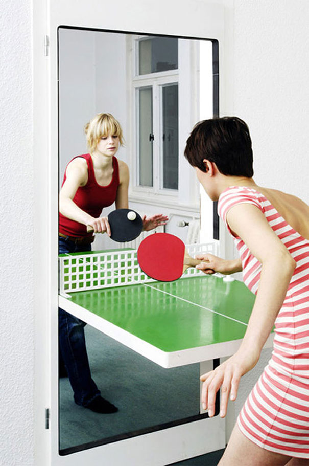 13  Ping Pong Door. 33 Amazing Ideas That Will Make Your House Awesome   Bored Panda