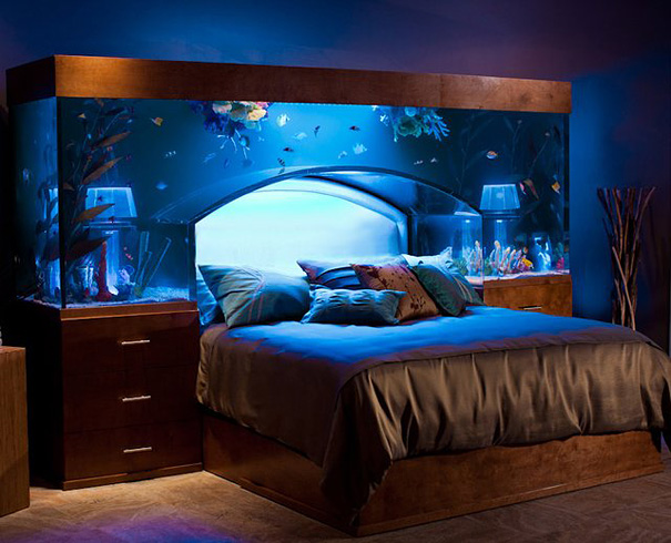Houses Ideas Designs house design ideas 1 Aquarium Bed