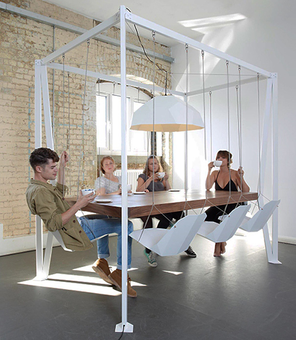 Attractive 4. Swing Set Table