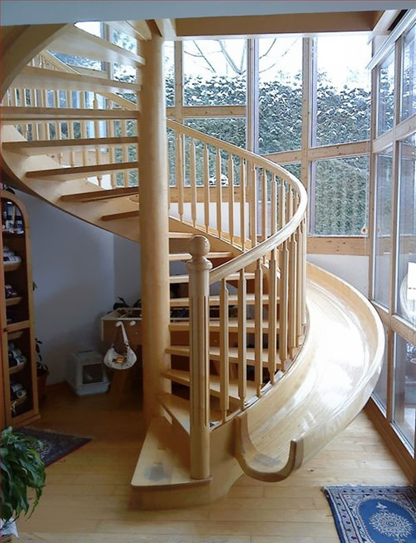 6 spiral staircase slide - Homes Interior Design Photos