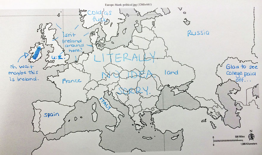 Label A Map Of Europe.Americans Were Asked To Place European Countries On A Map Here S
