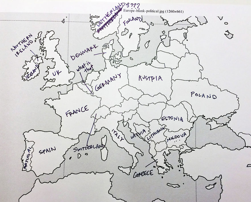 Americans Were Asked To Place European Countries On A Map. Here\'s ...