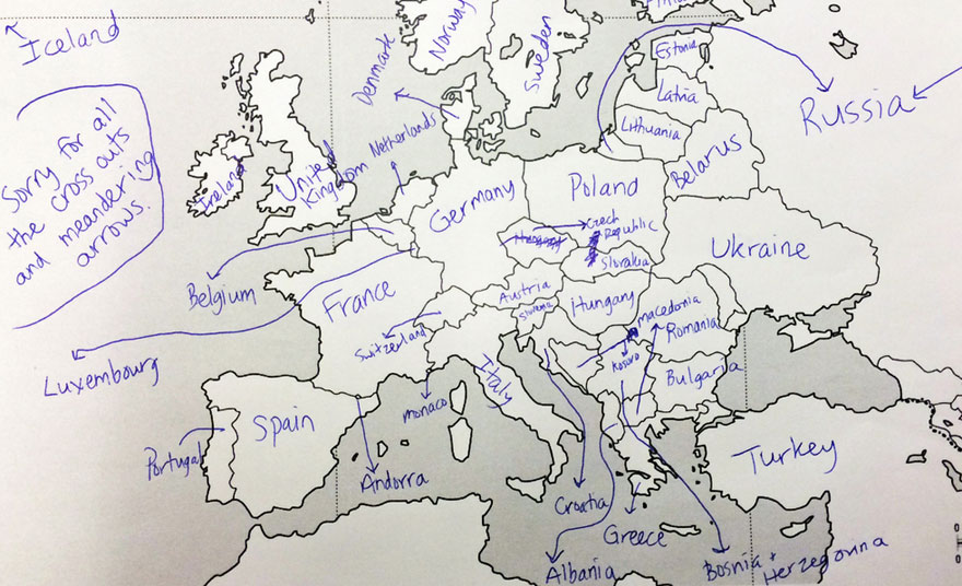 Americans Were Asked To Place European Countries On A Map Heres – A Map of Europe
