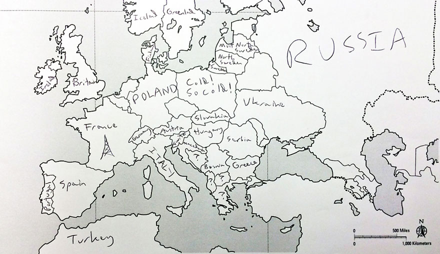 americans were asked to place european countries on a map heres what they wrote bored panda