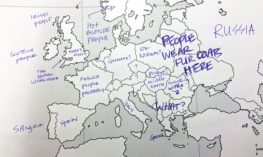 Americans Were Asked To Place European Countries On A Map Heres