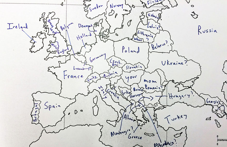 Americans Were Asked To Place European Countries On A Map Here S