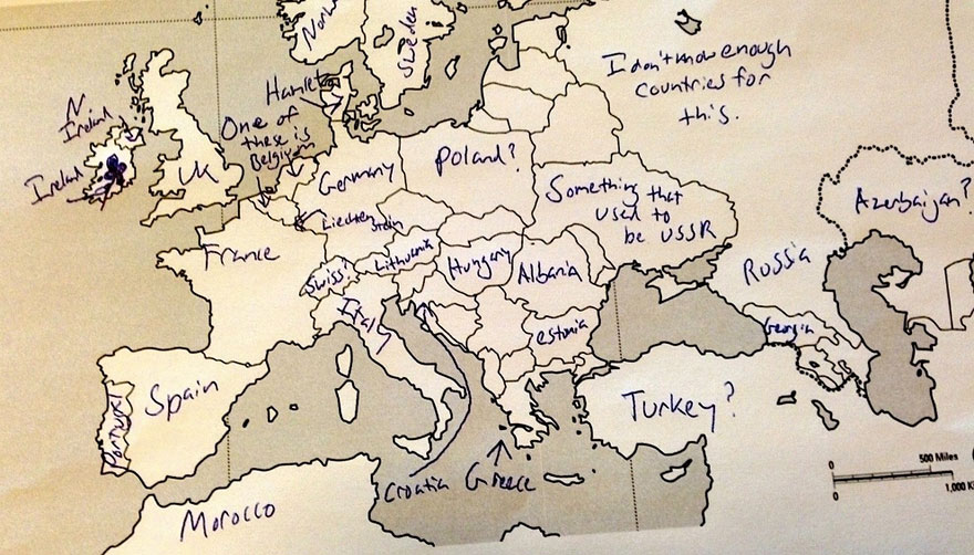 Americans were asked to place european countries on a map heres americans were asked to place european countries on a map heres what they wrote bored panda gumiabroncs Gallery