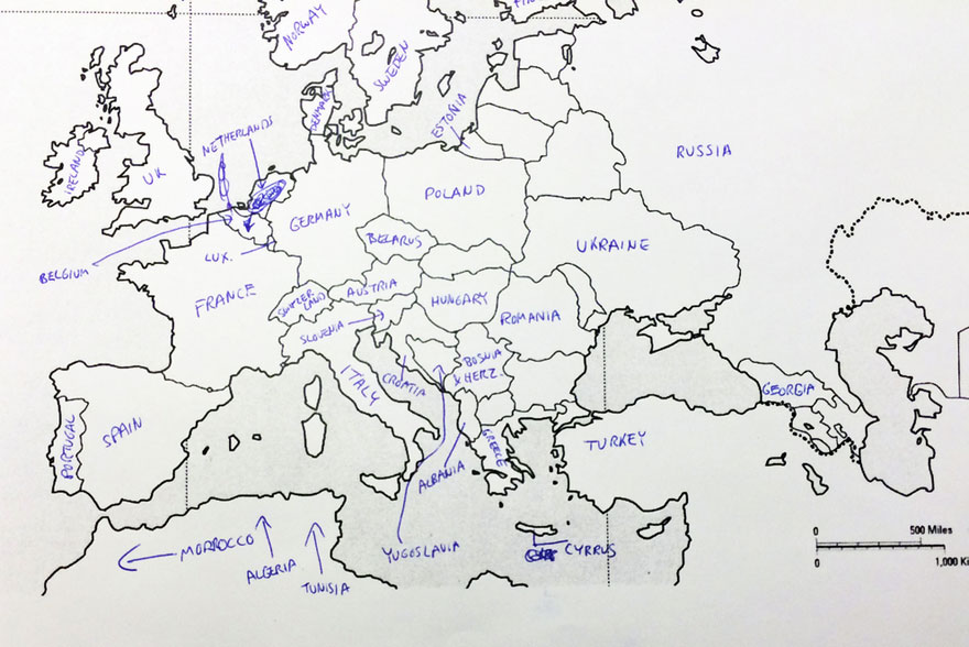 Americans Were Asked To Place European Countries On A Map Heres – European Countries on Map
