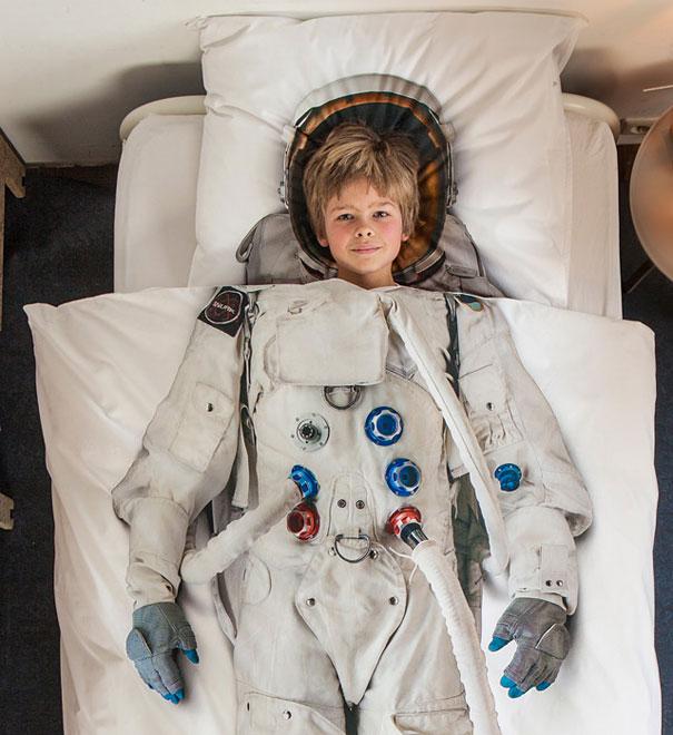 Realistic Astronaut Duvet Cover