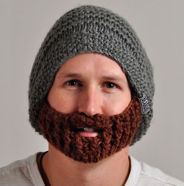 Cool Knitted Beard Hat with Detachable Beard  8005512277e