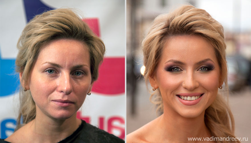 Stunning Before and After Makeup Photos by Vadim Andreev