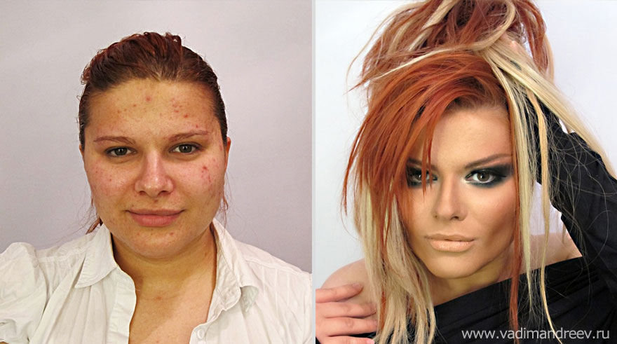 Stunning Before and After Makeup Photos by Vadim Andreev ...