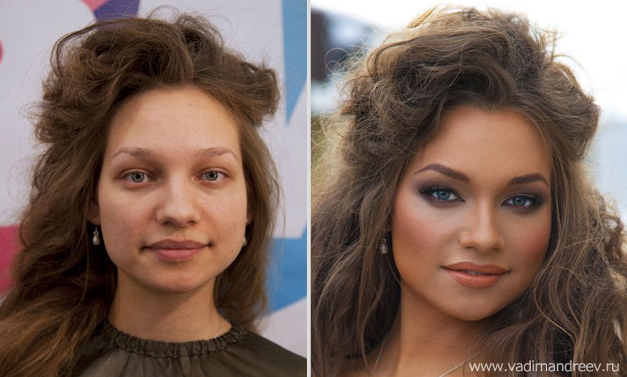 Stunning Before And After Makeup Photos By Vadim Andreev Bored Panda