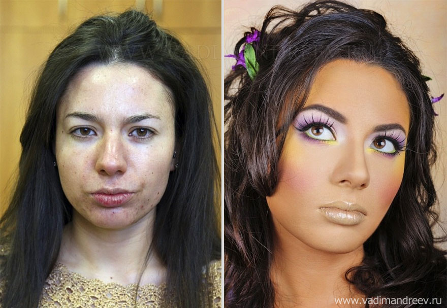 Stunning Before and After Makeup Photos by Vadim Andreev : Bored Panda