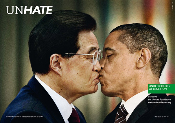 'Unhate' Ad Campaign by Benetton Shows World Leaders Kissing