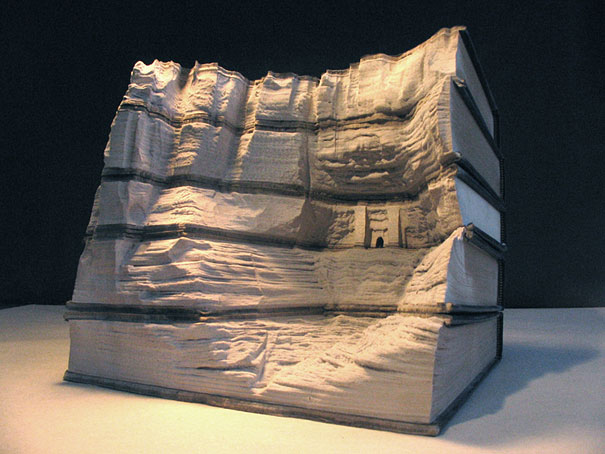 Carved book landscapes by guy laramee bored panda
