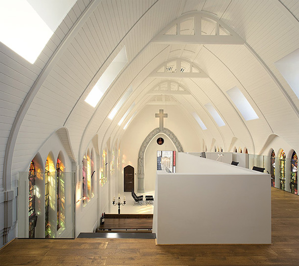 Church Converted Into Modern Family Home Holland