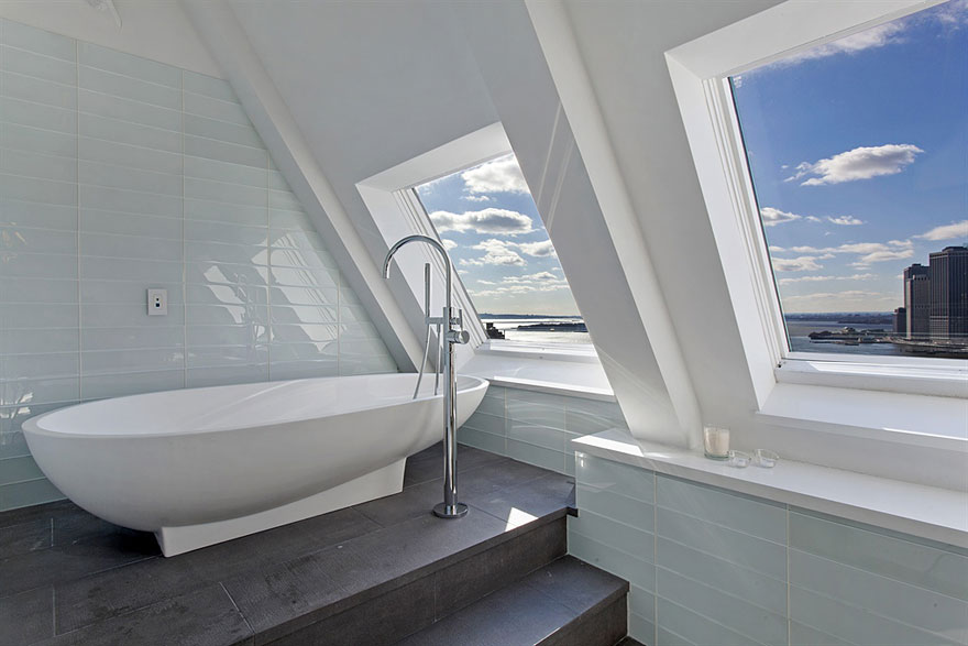 Old clock tower transformed into a penthouse on sale for for Brooklyn penthouses for sale
