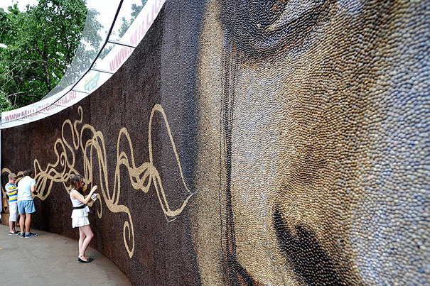 World's Largest Coffee Mosaic Made of 1 Million Coffee Beans