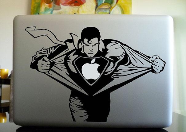 Macbook Cover Ideas ~ Cool and creative macbook stickers bored panda