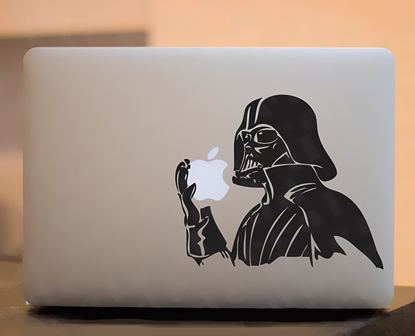 Darth vader macbook sticker