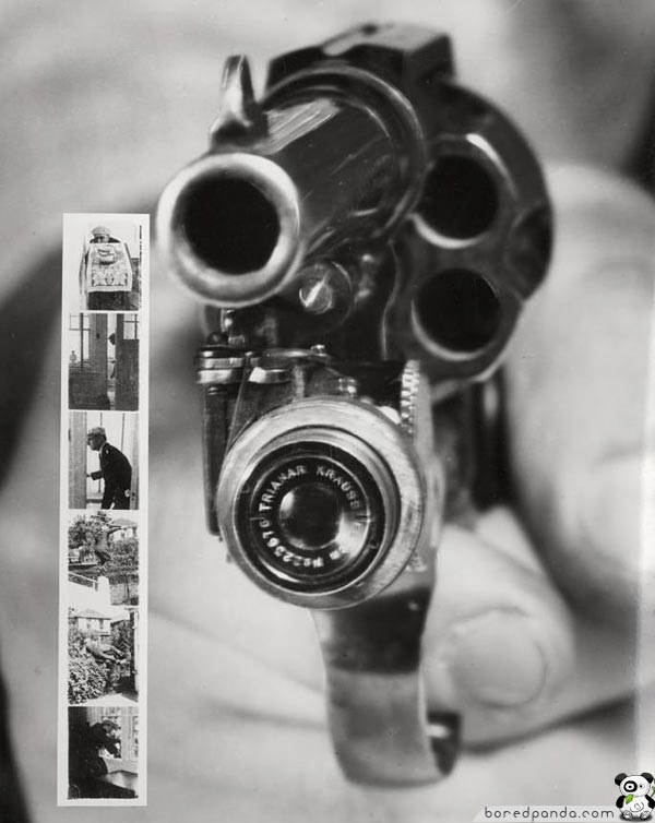 18 cool inventions from the past bored panda revolver camera new york 1938 publicscrutiny Choice Image