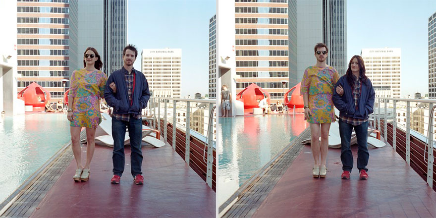Couples Switch Outfits In Playful, Gender-Bending Photo Series By
