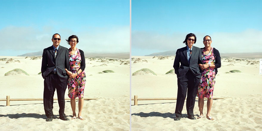 Couples Switch Outfits In Playful, Gender-Bending Photo