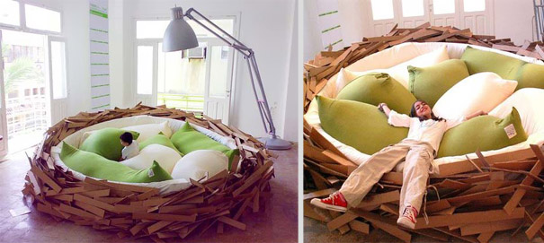 Giant Birdsnest bed was dedicated for breeding new ideas. It was designed  as part of the Green Garden Exhibition, part of the openning event of O*GE  Gallery ...
