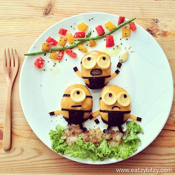 School Daze additionally Easy Halloween Snacks For Kids in addition Letter Santa Free Printable further Vegetarian Taco Wraps together with Kix Cereal Food Art Birdie Kix Snack. on healthy fun kids sandwiches