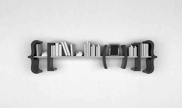 desain rak buku kreatif