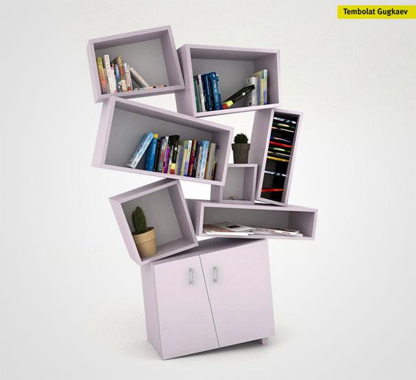 23. Tectonic Bookcase