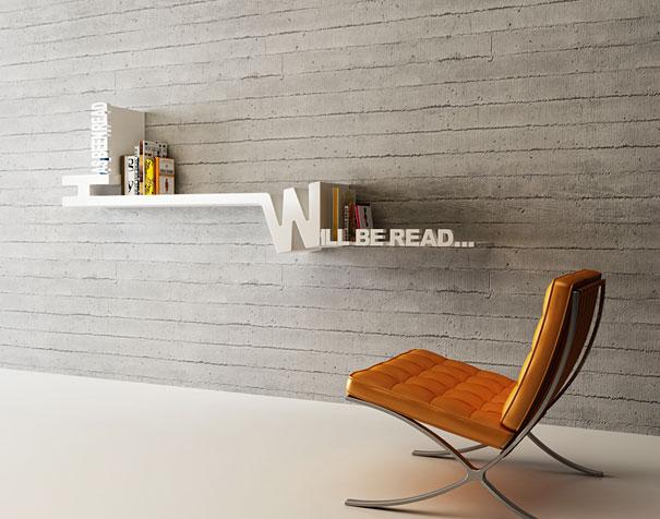 Will Be Read Bookshelf 605 x 476