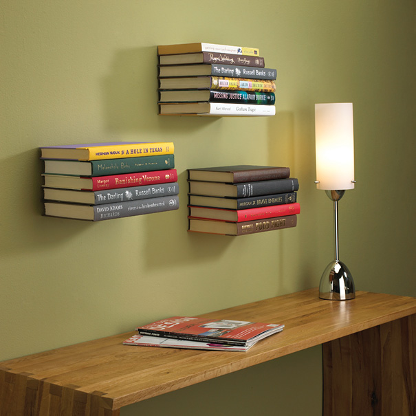 1. The Invisible Book Shelf. \u201c & 33 Creative Bookshelf Designs | Bored Panda