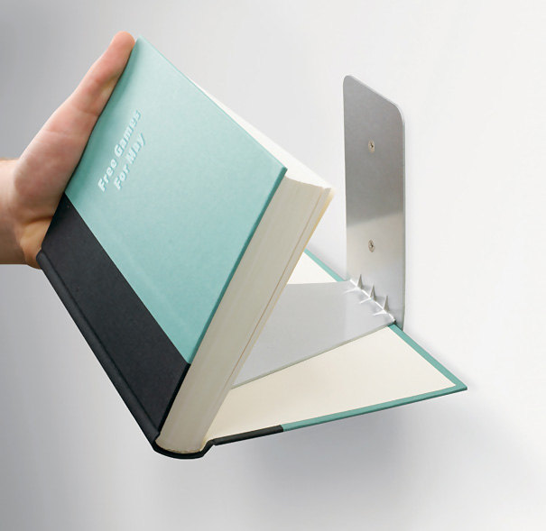 U201cThis Book Shelf, Which Holds Up To 15 Pounds Of Books, Screws Directly  Into A Wall Stud And Presto U2013 You Have An Invisible Book Shelf!