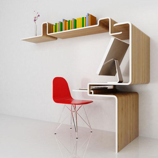 33 creative bookshelf designs bored panda for Cool desk ideas