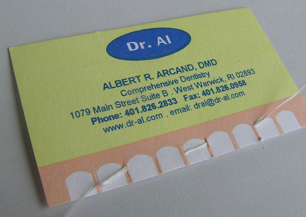 20 more creative business card designs bored panda dr al dentists business card reheart Images