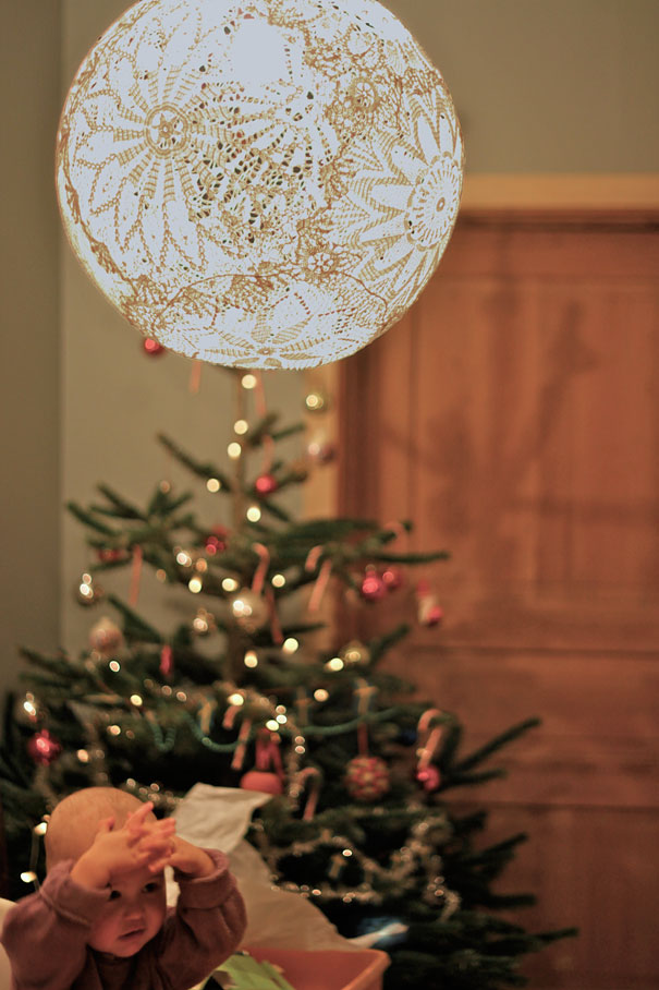 20 creative diy project ideas bored panda lace lamp solutioingenieria Images