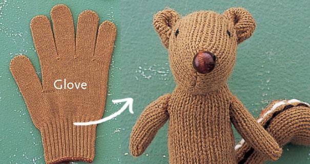 5 Turn A Glove Into Chipmunk