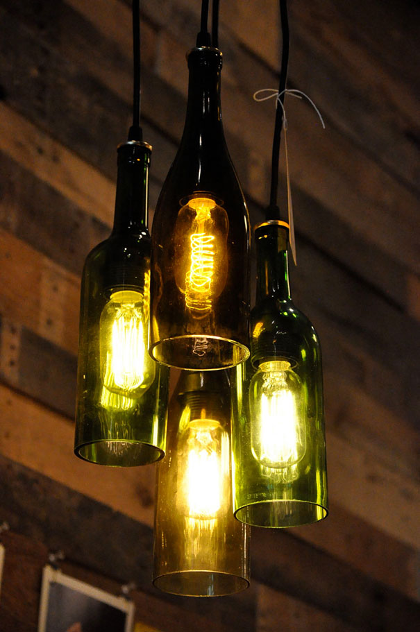 27 bottles into pendant lamps - Reuse Repurpose