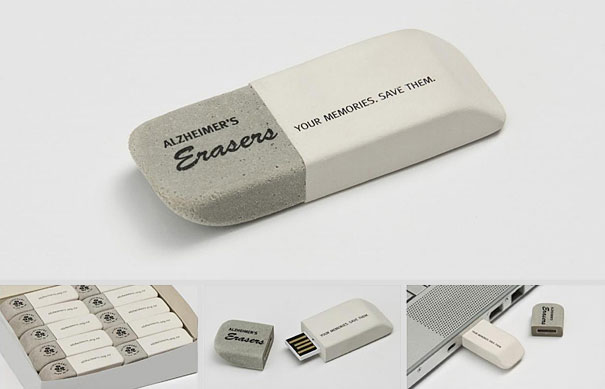 Alzheimers New Zealand Eraser USB Stick
