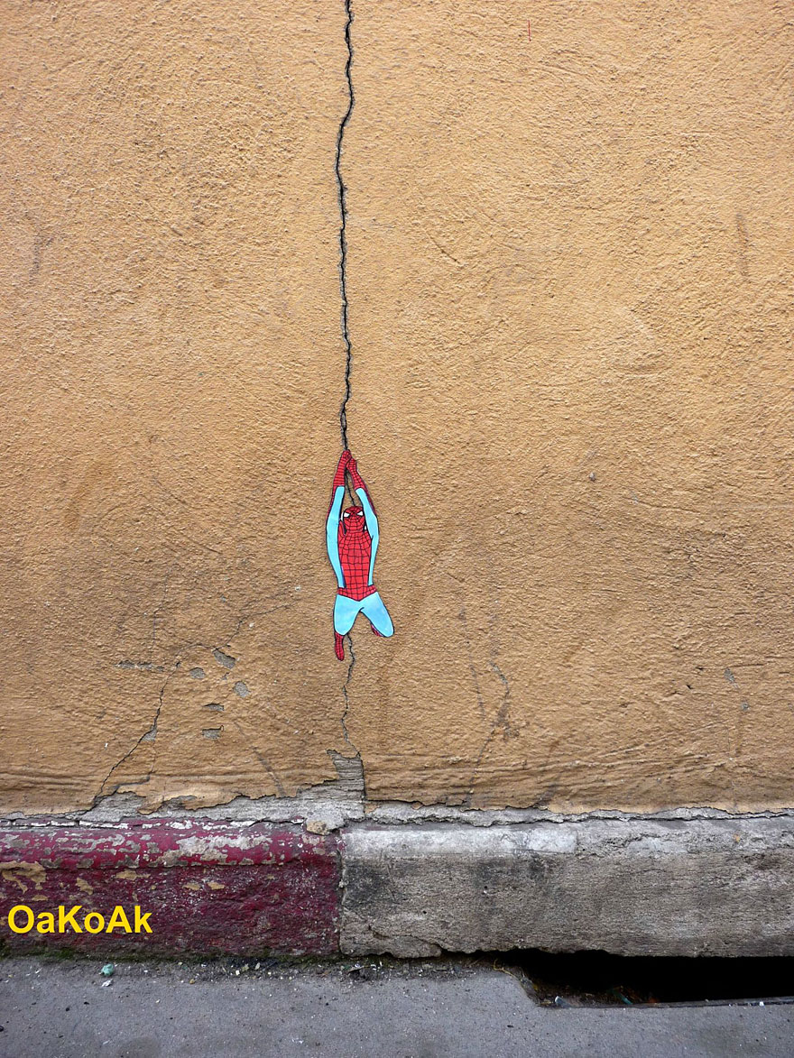30 More Creative Street Art Works by OakoAk