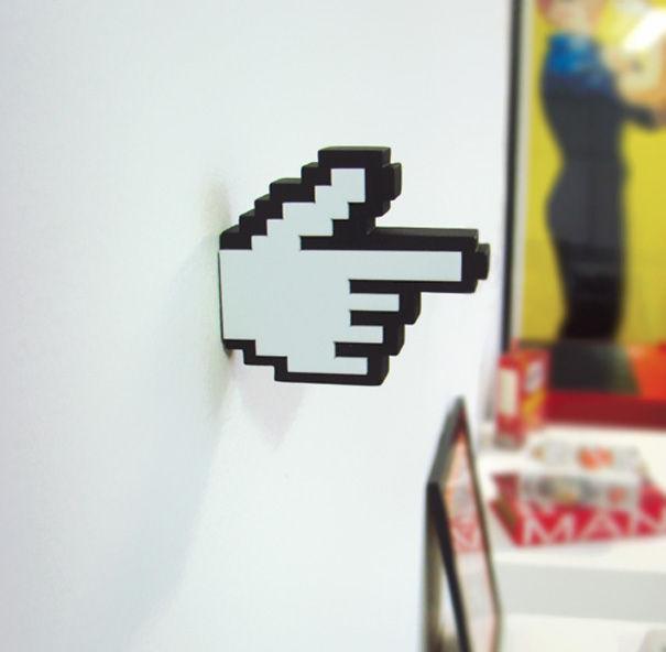 Mount To Your Wall, And Then Use To Hang Your Non 8 Bit Stuff. (link)