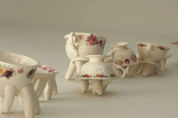 Creepy Tableware by Ronit Baranga