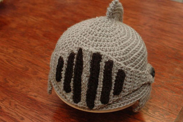 Crocheted Knight?s Helmet Cap Bored Panda