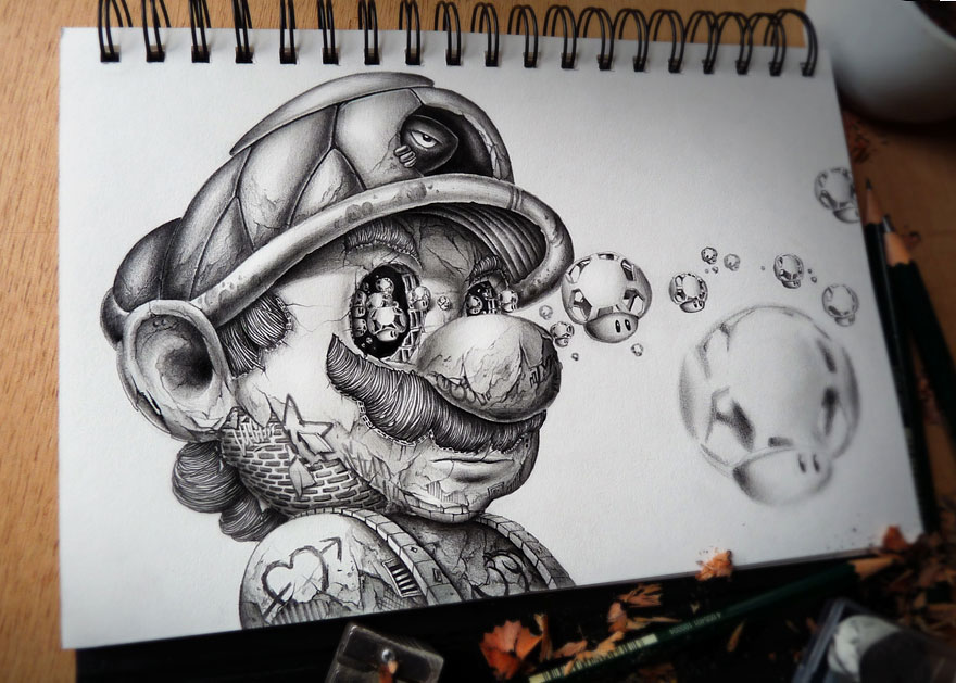 Distroy Creepy Pencil Drawings Of Famous Cartoon