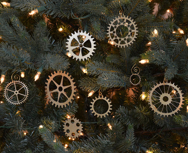 steampunk gear christmas ornament - Outdoor Police Christmas Decorations