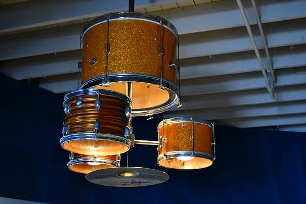 DIY Drum Kit Chandelier