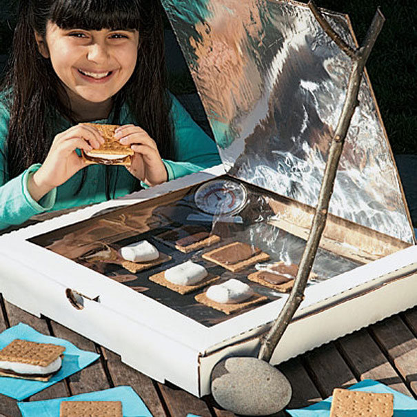 20 cool things you can make with a pizza box bored panda for How to build a solar oven for kids